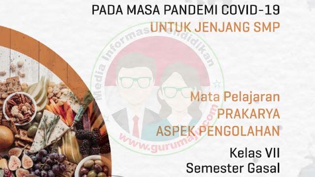 Download Modul PJJ Prakarya Pengolahan Kelas 7 SMP Semester 1