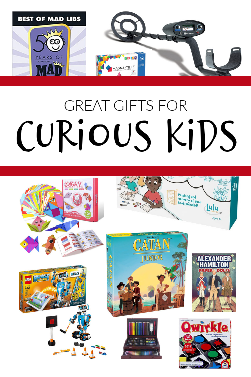 Great gift ideas for curious kids--This Christmas, buy more purposeful presents in order that you can cultivate an atmosphere of learning all year long. #homeschool #giftguide #christmasforkids #homelearning #delightdirectedlearning #awakingwonder