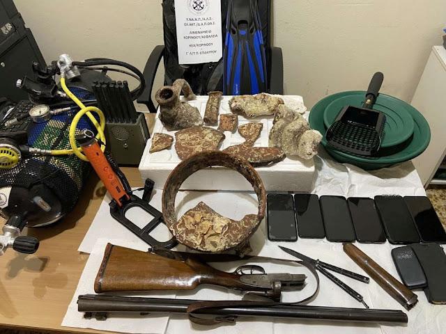 Αργολίδα: Τι βρέθηκε στην κατοχή των 6 συλληφθέντων για αρχαιοκαπηλία στην Επίδαυρο (φώτο)