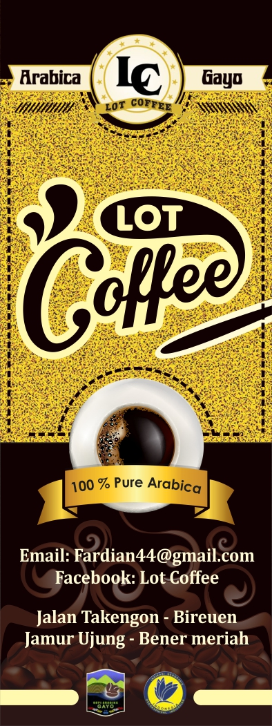 Desain X-Banner Lot Coffee