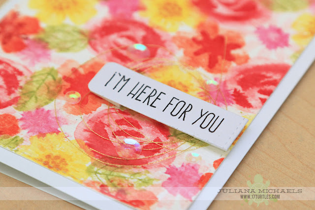 I'm Here For You Card by Juliana Michaels featuring Distress Ink Watercoloring and MFT Stamps Modern Blooms