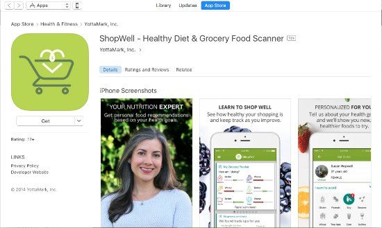 shopwell app on itunes