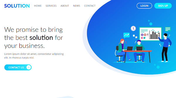 Solution Landing Page Html5 Template