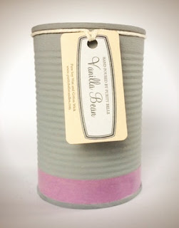 Vanilla Fragrance Upcycled Tin Candle