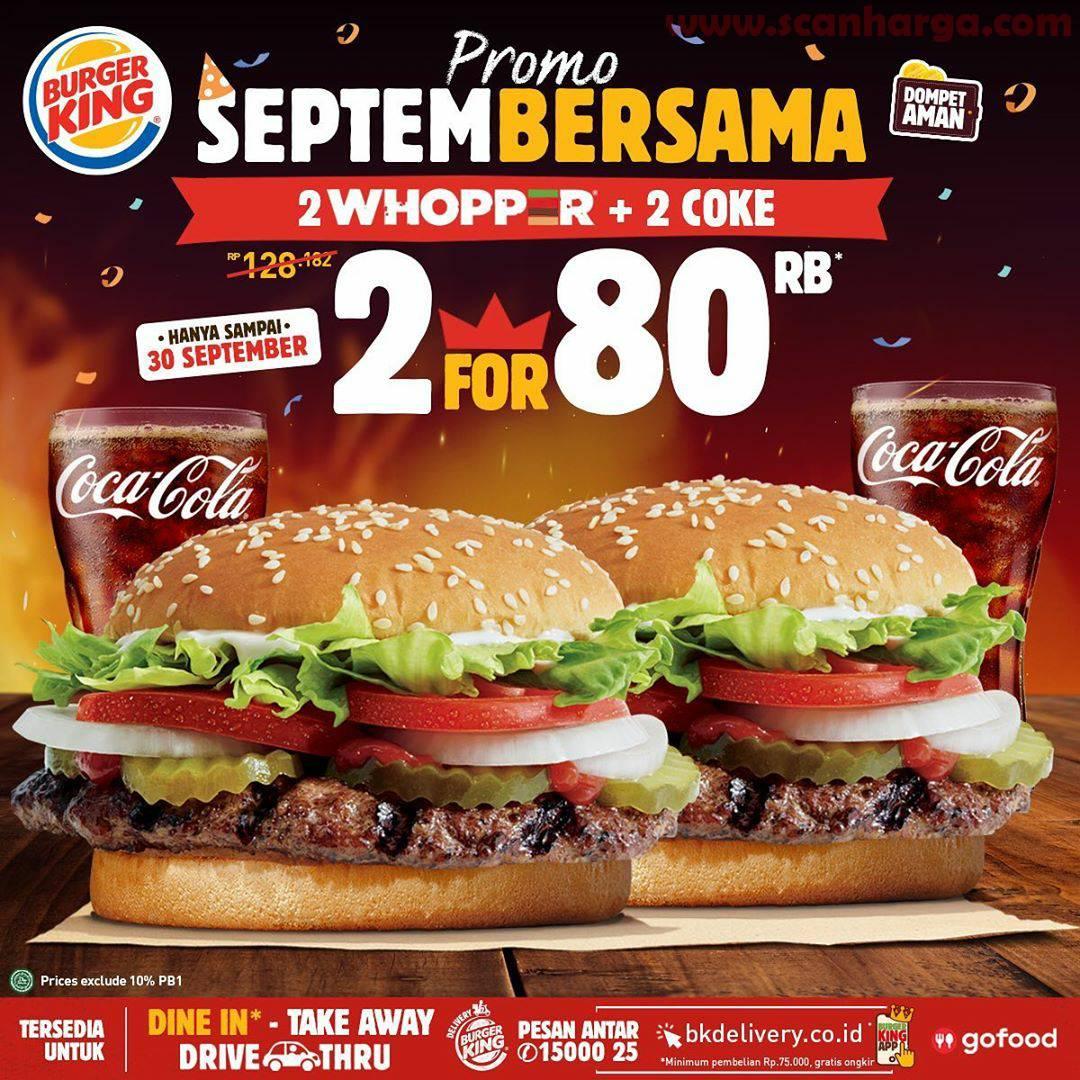 Promo Burger King Terbaru 18 - 30 September 2020
