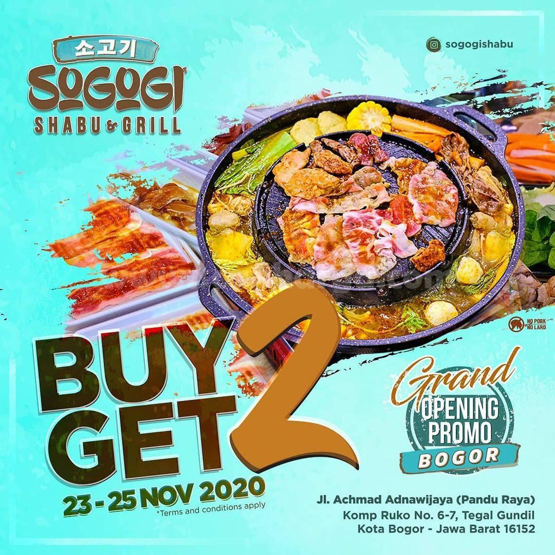 Sogogi Shabu Bogor Grand Opening Promo Buy 2 Get 2