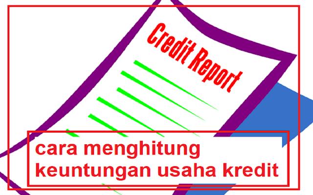 menghitung keuntungan usaha kredit