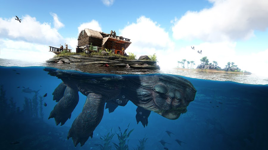 ark survival evolved genesis season pass giant sea turtle pc ps4 xb1