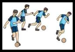 Menggiring bola dengan berpasangan dan mengghindari sentuhan dengan temannya