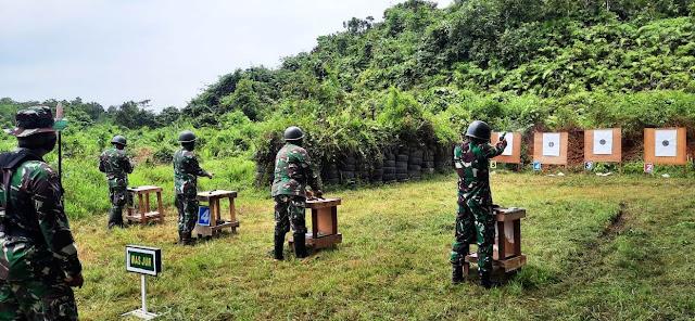 Asah Kemampuan Prajurit, Kodim 0906/Tenggarong Gelar Latihan Menembak