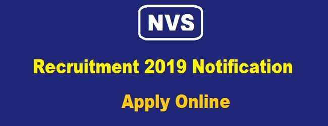 NVS Jobs Notification 2019