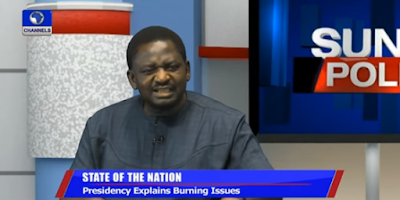 Interview by Presidential Spokesman Femi Adesina onPoor electricity supply: Go and hold pipeline vandals responsible