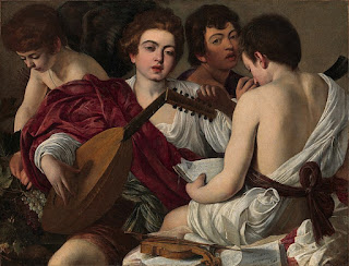 Caravaggio's painting, The Musicians, painted in about 1595, is on loan at the Carrara from The Met in New York
