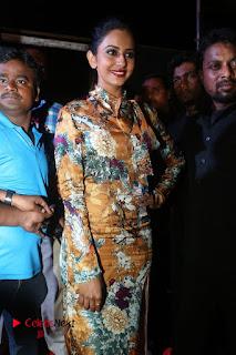 Actress Rakul Preet Singh Stills in Short Dress at Dhruva Pre Release Function  0001.JPG