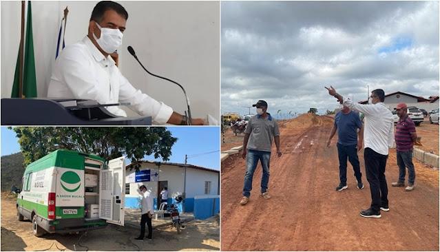 Piatã: Prefeito Marcos Paulo visita Posto de Saúde da Bocaina e  obras da 3ª etapa da ciclovia na sede