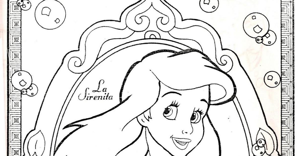 Ariel La Sirenita Para Colorear Para Dibujos De La: Dibujos Para Colorear: Cuadro De La Sirenita Para Pintar