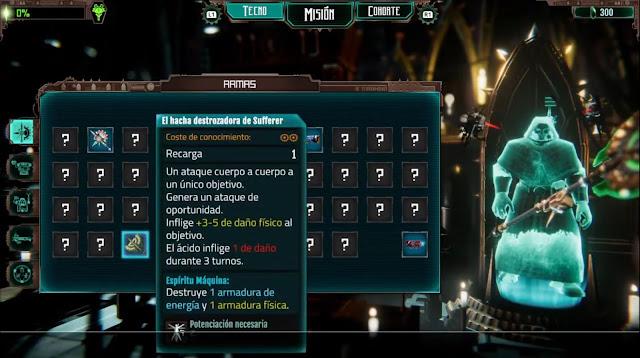 Warhammer 40000 Mechanicus - Armas
