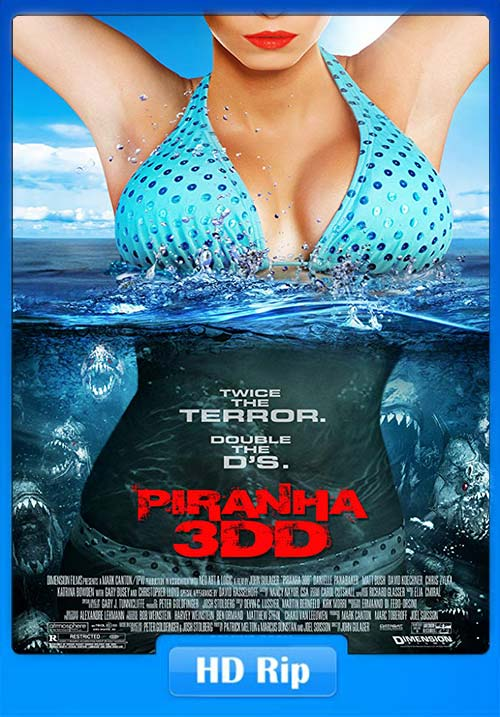 Piranha 2012 720p BDRip Hindi Tamil Telugu Eng | 480p 300MB | 100MB HEVC