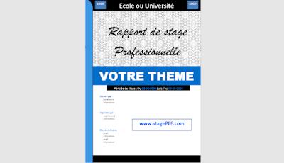 EXEMPLE D'UNE PAGE DE GARDE POUR UNE MEMOIRE DE STAGE 2021