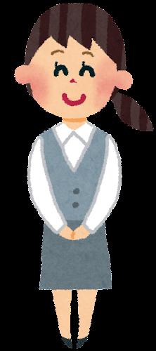 事務職の女性・OLのイラスト