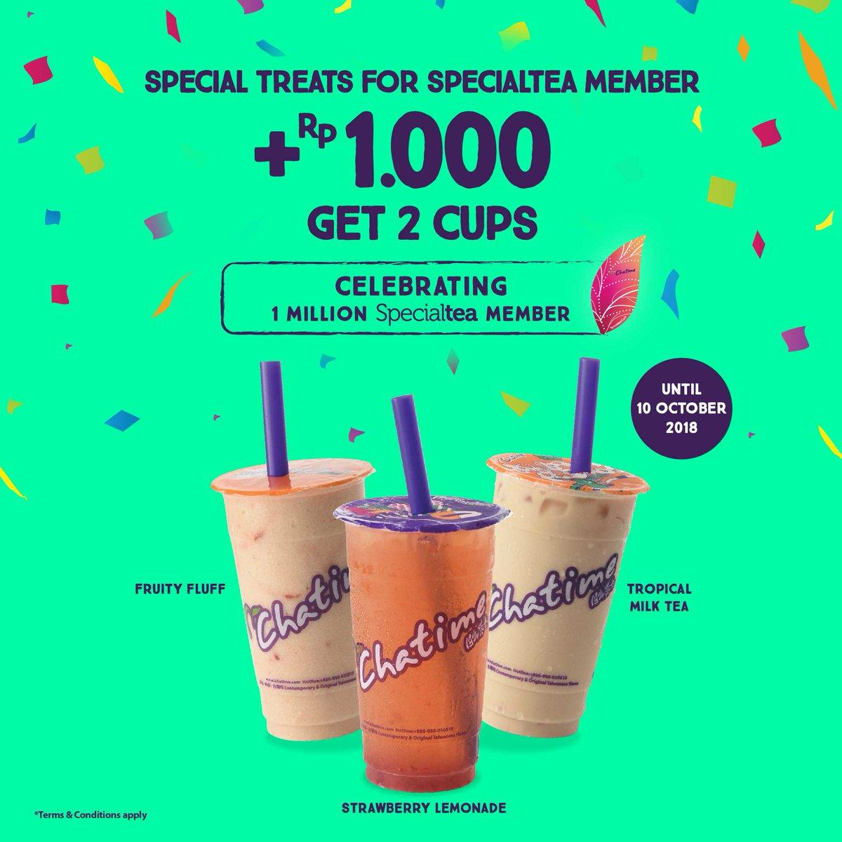 Chatime - Promo Special Tea Member Promo + 1000 Free Tropical Sensation