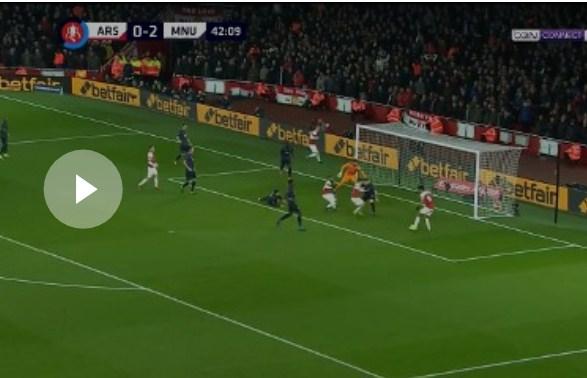 فيديو : مانشستر يونايتد ينهي رحلة أرسنال في كأس الاتحاد