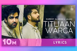 तितलियाँ वर्गा Titliaan Warga Lyrics and Karaoke by Harrdy Sandhu