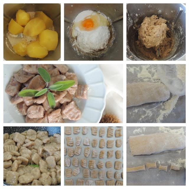 gnocchi con farina di castagne col bimby