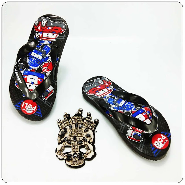 Sandal Anak Karakter Kartun Murah- AMX Karakter Spon Anak- Pabrik Sandal