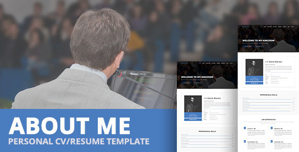 About me personal cvresume template free wordpress theme for about me template features yelopaper Gallery