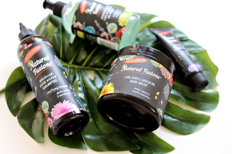 Palmer's Natural Fusions products on a palm leaf