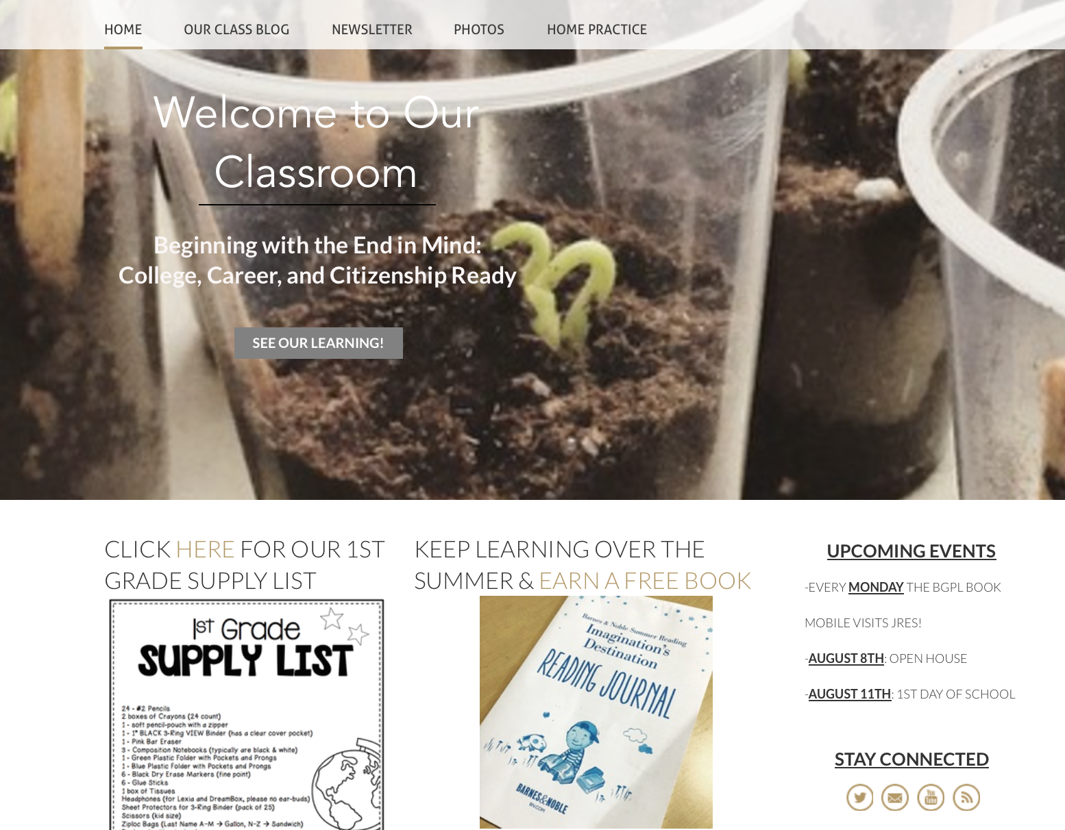 Creating a Classroom Website using Weebly - The Brown Bag