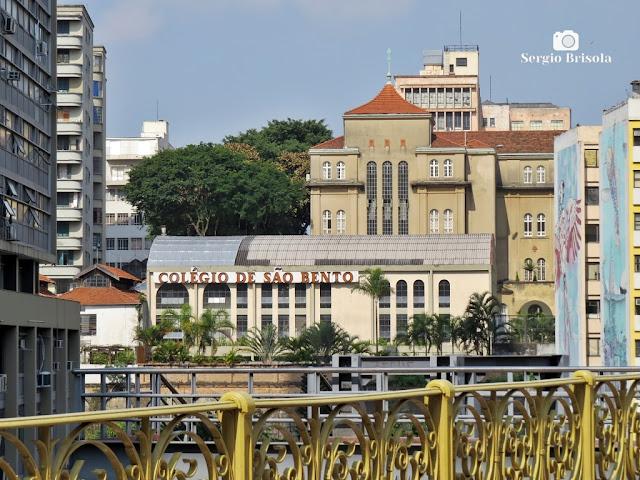Vista ampla do tradicional Colégio de São Bento - Centro - São Paulo