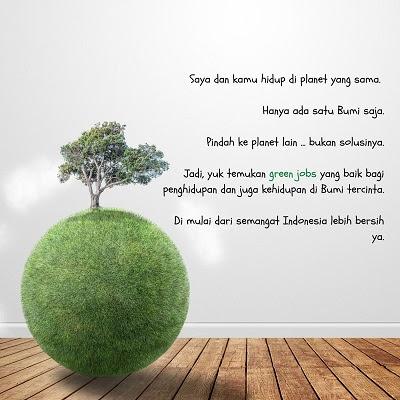 peluang green jobs untuk milenial indonesia