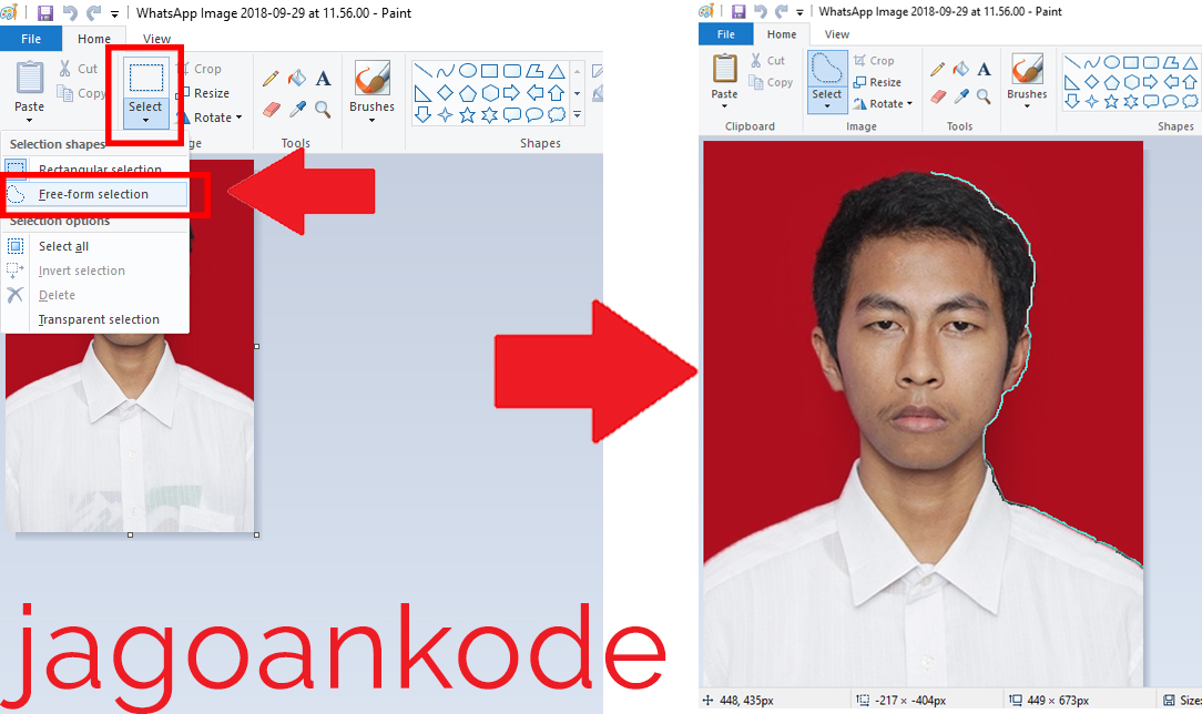Cara Merubah Warna Background Foto Di Ms Paint Jagoan Kode
