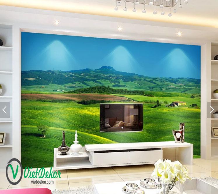 Tranh dán tường 3d phong cảnh thiên nhiên