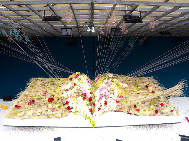 Giant book of flowers at Hong Kong Flower Festival 2017