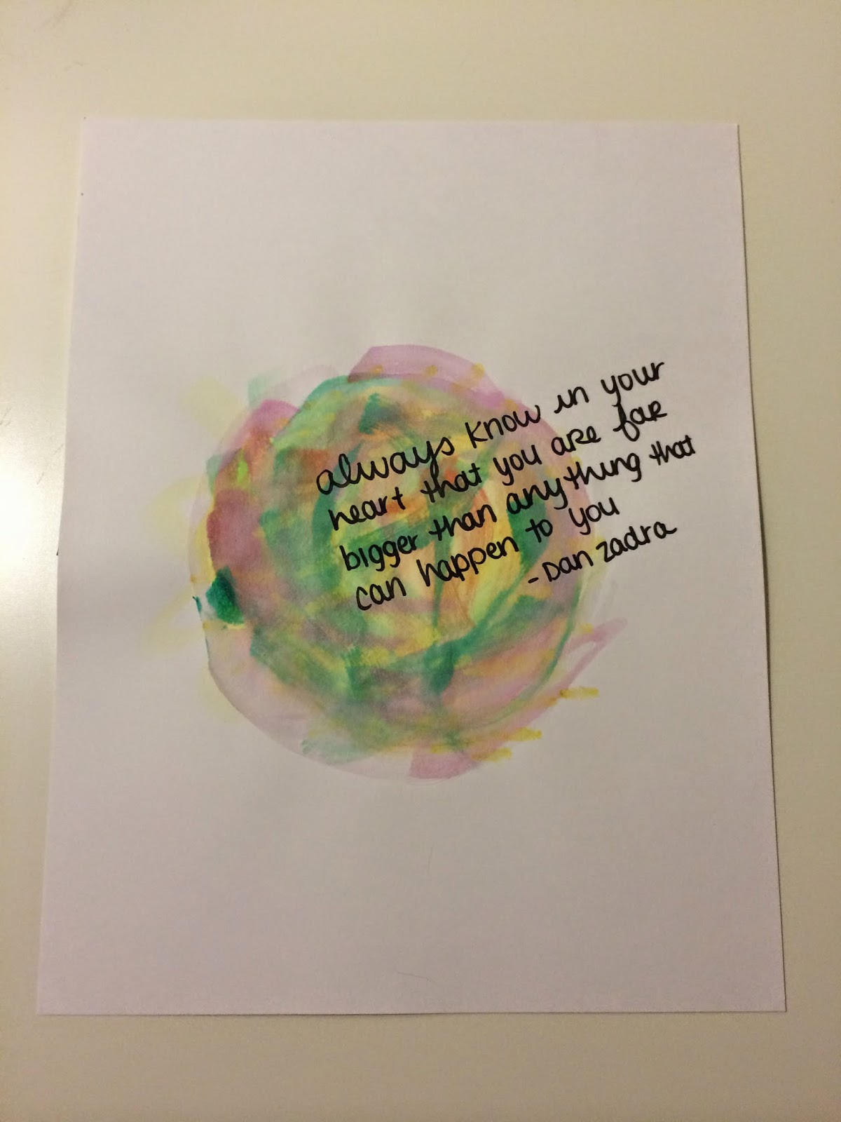 watercolor and quote