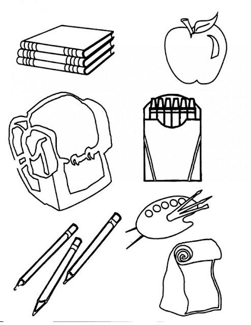ادوات مدرسية للتلوين للاطفال الصغار