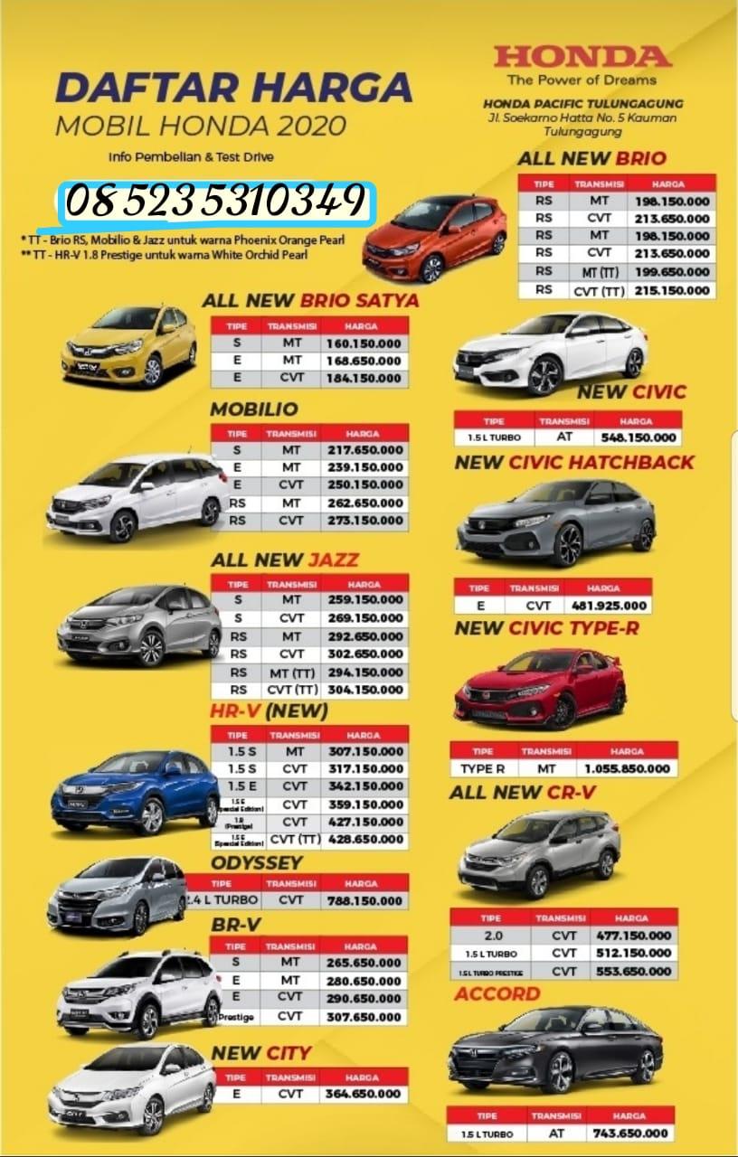 Dealer Honda Kediri Daftar Harga Otr Cash Dan Kredit Mobil Baru