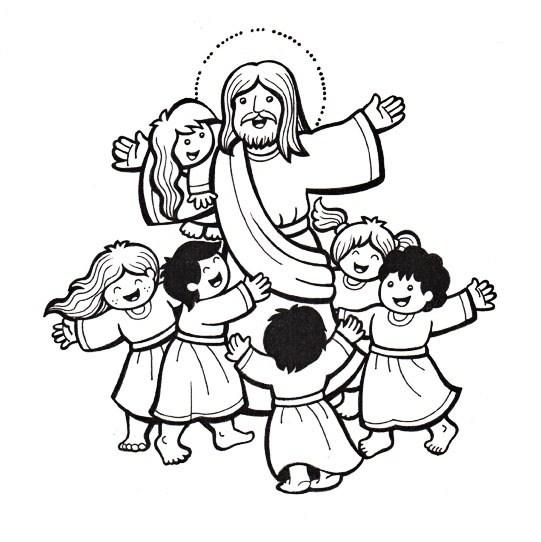 Dibujos Para Colorear Jesus Y Los Niños Fantstico Colorear La