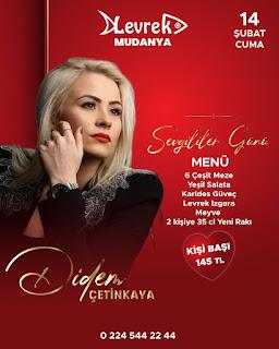 Levrek Mudanya Bursa Sevgililer Günü Menüsü 2020