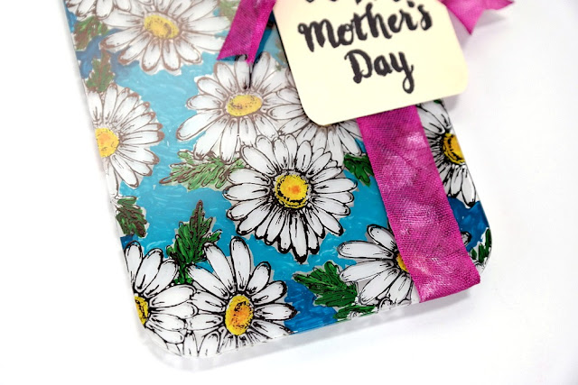 Stamped Daisy Mother's Day Acrylic Board with ColoriQue by Dana Tatar