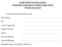 Download SK Penerima TPG Tahun 2016-2017 PNS dan NON PNS