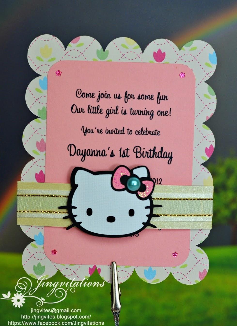 Jingvitations Hello Kitty For Baby Shower Birth