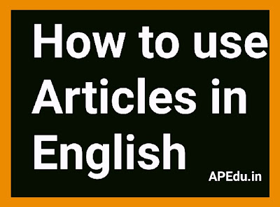 Articles rules in English