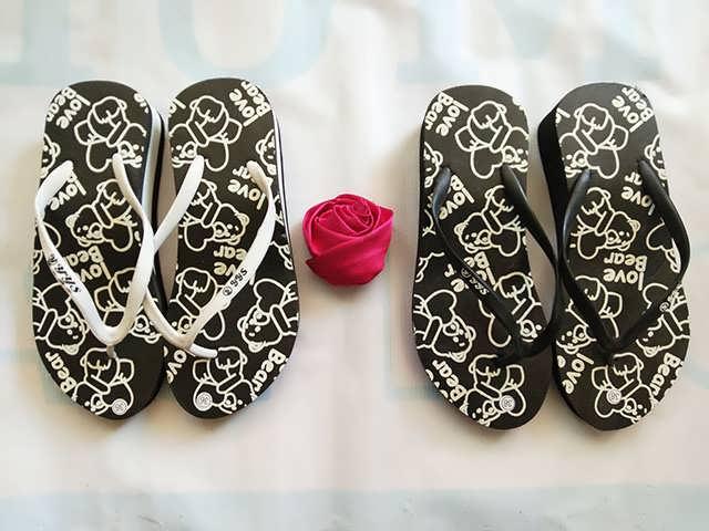 Sandal Spon Tebal Motif Love Bear - Grosir Sandal Murah