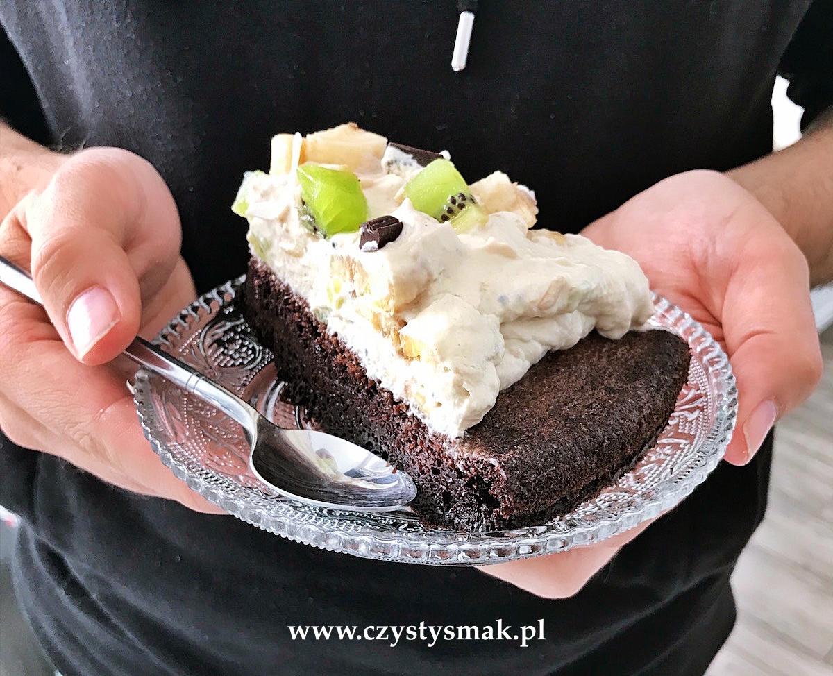 Ciasto czekoladowe o strukturze bez pianki