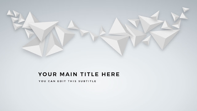 Free PowerPoint Abstract Polygons Title Template Main Slide