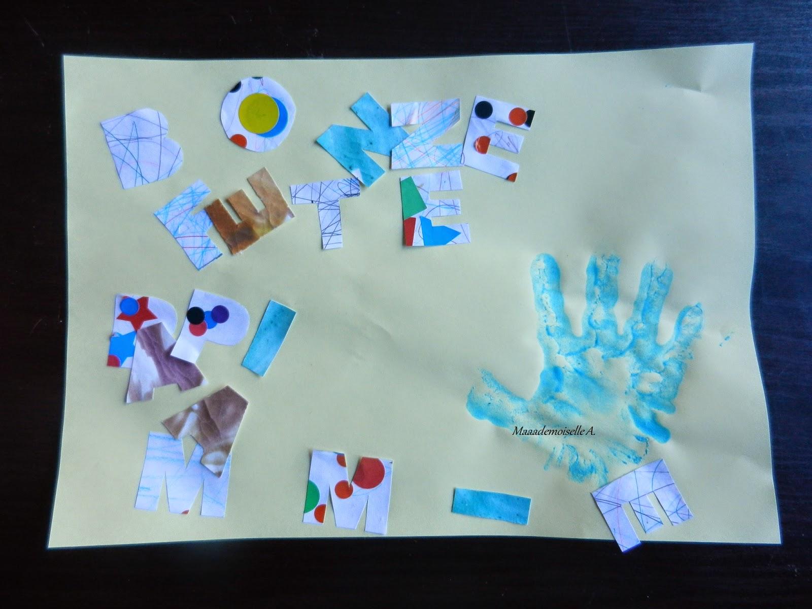 DIY - Le cadeau de fête des grands-mères ou faire de la récup avec les dessins des enfants.